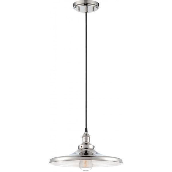 Nuvo Lighting Vintage Nickel Finish Metal/Glass Shade 1-light Pendant