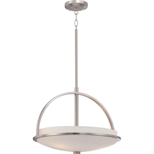 Nuvo Lighting Neval Nickel Finish 3-light Pendant