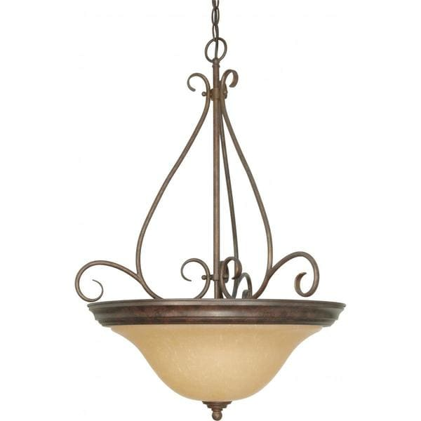 Nuvo Lighting Bronze Metal/ Glass Castillo 3-light Pendant