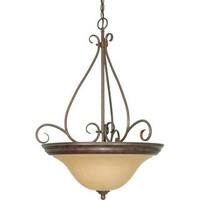 Nuvo Lighting Bronze Metal/ Glass Castillo 3-light Pendant