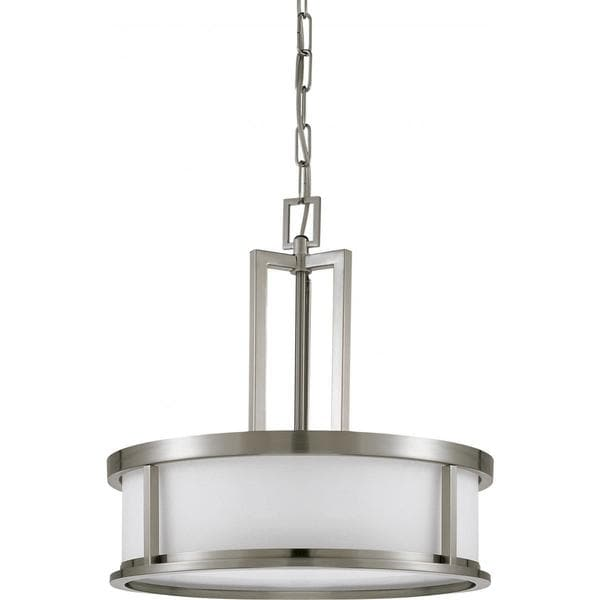 Odeon Metal and Glass Nickel Finish 4-light Pendant