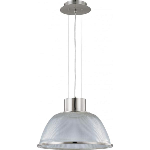 Nuvo Lighting Gear Brushed Nickel Metal/Glass 20-inch Large 1-light Pendant
