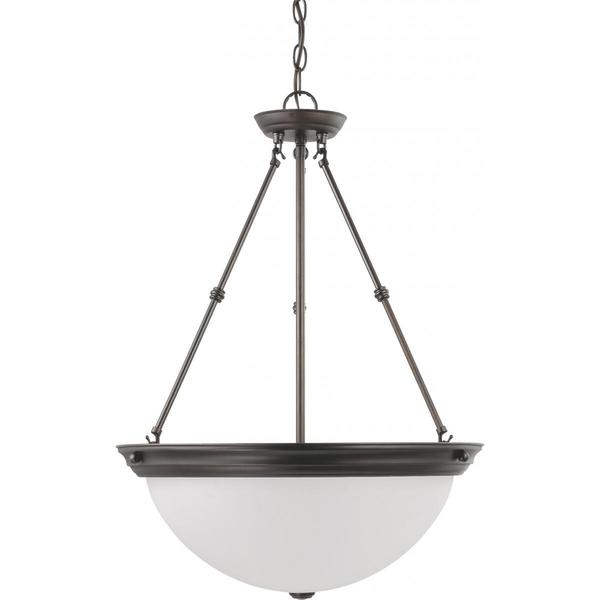 Nuvo Lighting Bronze Metal and Glass 3-light 20-inch Pendant
