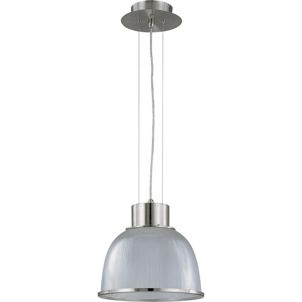 Nuvo Lighting Gear Brushed Nickel Metal/Glass 13-inch Medium 1-light Pendant