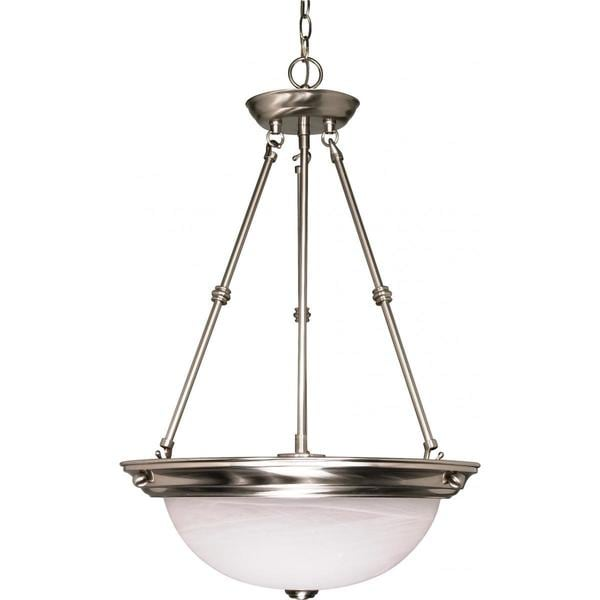 Nuvo Lighting Nickel Metal and Glass 3-light Pendant
