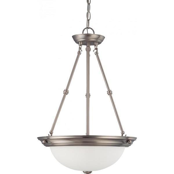 Nuvo Lighting Nickel Finish 3-light 15-inch Pendant
