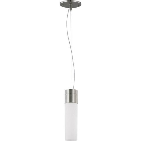 Nuvo Lighting Link Es Nickel-finish 1-light Pendant