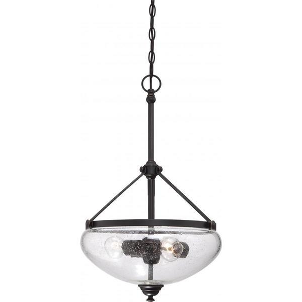 Nuvo Lighting Laurel Sudbury Bronze-finish Metal/Glass 3-light Pendant