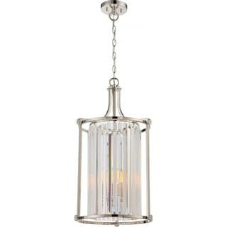 Nuvo Lighting Krys Polished Nickel-finished Metal 4-light Foyer