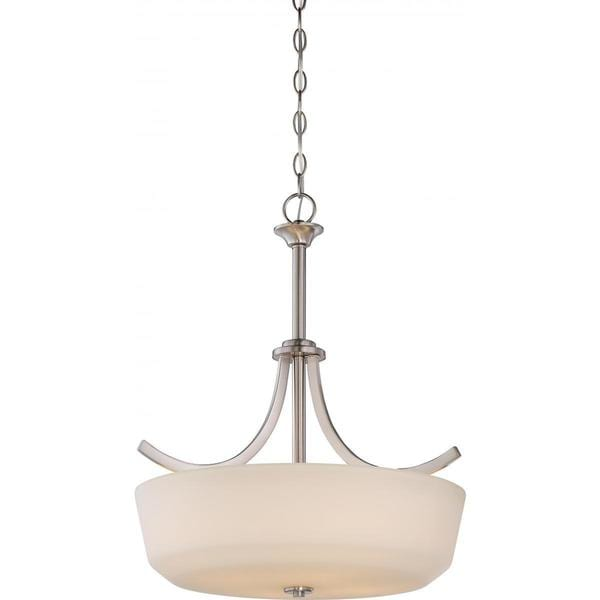 Nuvo Lighting Laguna Nickel Metal and Glass 4-light Pendant