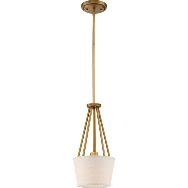 Nuvo Lighting Seneca Brass Finish 1-light Mini Pendant