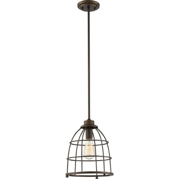 Maxx Mahogany Bronze Finish Caged Vintage 1-light Large Pendant