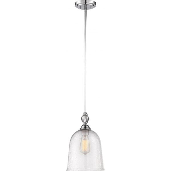 Nuvo Lighting Fern Polished Nickel/Clear Glass 1-light Large Pendant