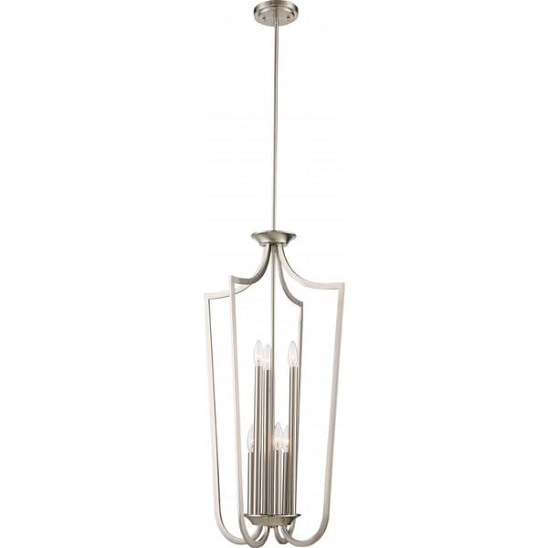 Nuvo Lighting Laguna Nickel Finish 6-light Cage Pendant