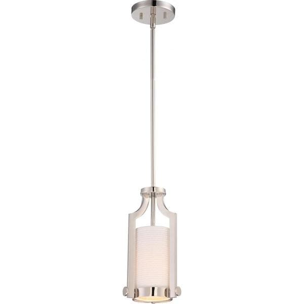 Nuvo Lighting Meadow Nickel Finish 1-light Mini Pendant
