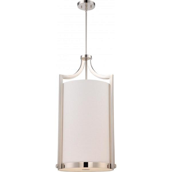 Nuvo Lighting Meadow Nickel Finish Metal 4-light Large Foyer Pendant