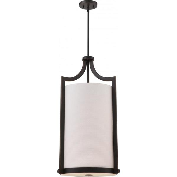 Nuvo Lighting Meadow Bronze Metal Large 4-light Foyer Pendant