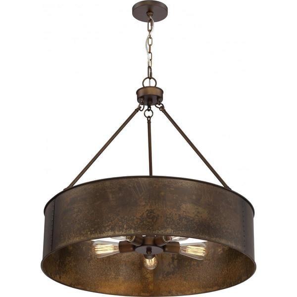 finest selection a3d3c 38ef8 Nuvo Lighting Kettle Antique Copper Finish 5-light Oversized Pendant -  Diameter 30.00