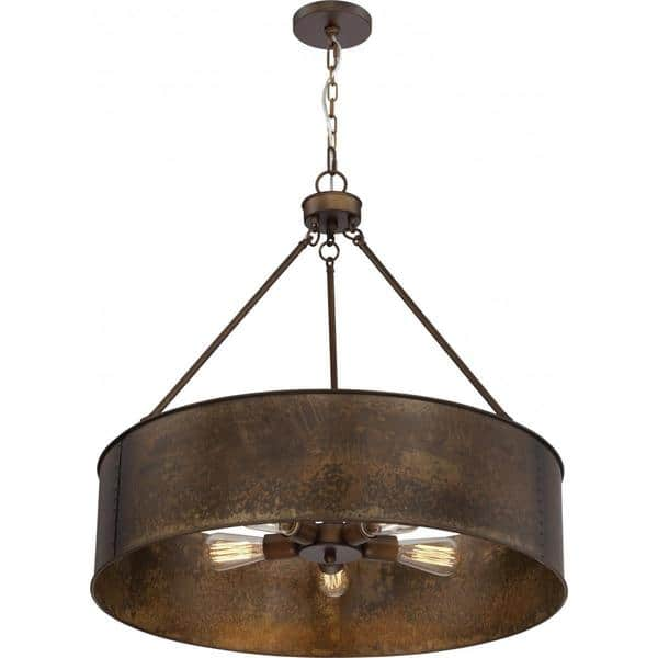 Nuvo Lighting Kettle Antique Copper Finish 5 Light Oversized Pendant Diameter 30 00 Height 28