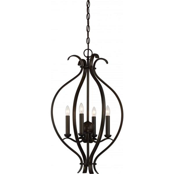 Nuvo Lighting Dillard Bronze-finished Metal 4-light Caged Pendant