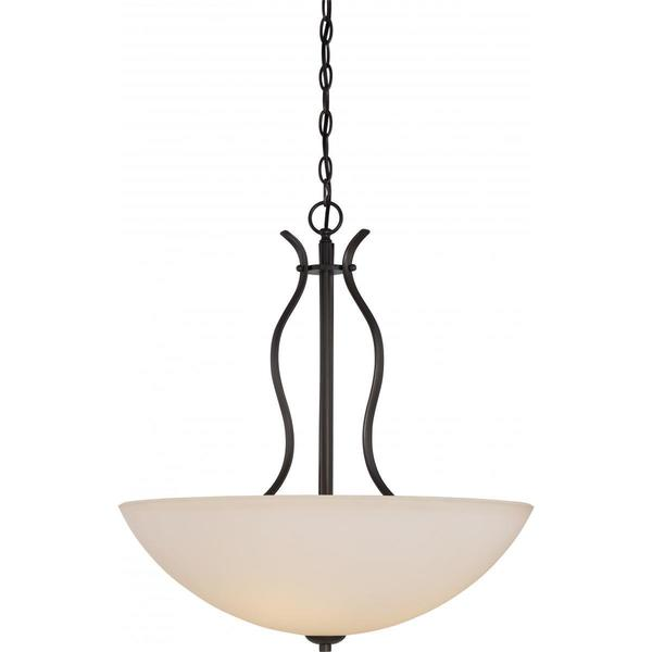 Nuvo Lighting Dillard Bronze Metal and Glass 4-light Pendant