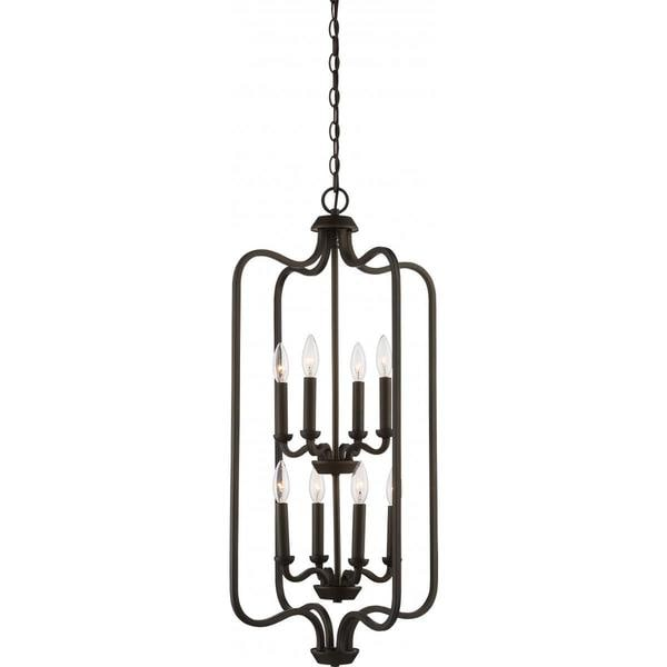 Nuvo Lighting Willow Bronze Metal 2-tier 8-light Cage Pendant
