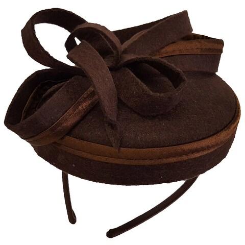 Hatch Women's Curls Bow Wool Cashmere Cocktail Fascinator Hat