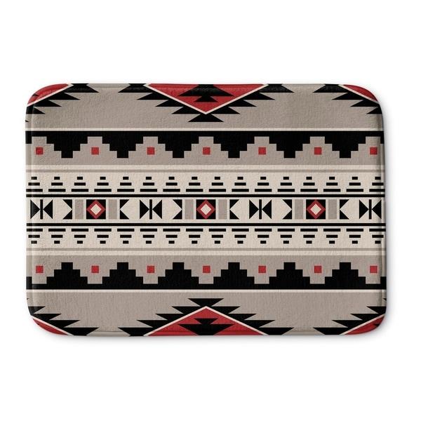 Kavka Designs Red Cherokee Red Memory Foam Bath Mat