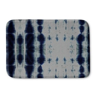 Kavka Designs Blue Shibori Stripe Memory Foam Bath Mat