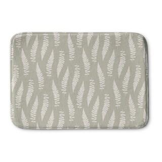 Kavka Designs Tan Feathers Memory Foam Bath Mat