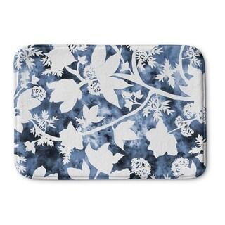 Kavka Designs Blue Floral Memory Foam Bath Mat