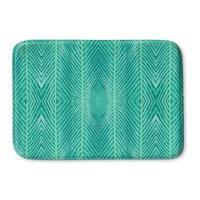 Kavka Designs Green Blue Green Palms Memory Foam Bath Mat