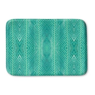 Kavka Designs Green Blue Green Palms Memory Foam Bath Mat
