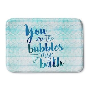 Kavka Designs Blue Bubbles Light Memory Foam Bath Mat
