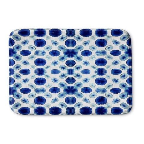 Kavka Designs Blue Shibori Circle Memory Foam Bath Mat