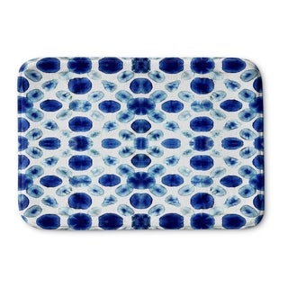 Kavka Designs Blue Shibori Circle Memory Foam Bath Mat