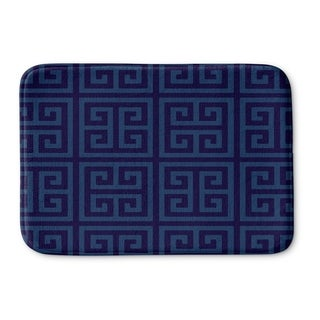 Kavka Designs Blue Greek Key Navy Memory Foam Bath Mat