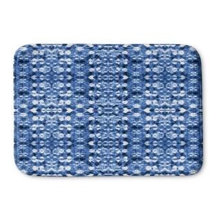 Kavka Designs Blue Shibori Mirror Memory Foam Bath Mat