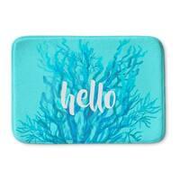 Kavka Designs Blue/White Hello Coral Blue Memory Foam Bath Mat