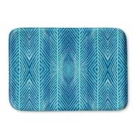 Kavka Designs Blue Blue Palms Memory Foam Bath Mat