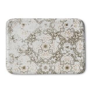 Kavka Designs Grey/Ivory Sandoval Grey Memory Foam Bath Mat