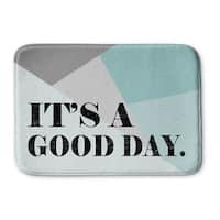 Kavka Designs Blue/Grey/Black Its A Good Day Memory Foam Bath Mat