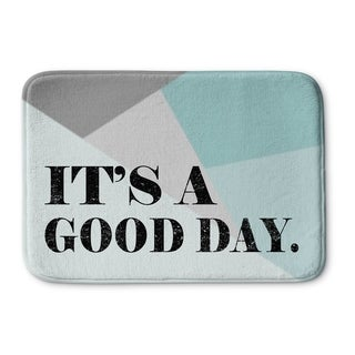 Kavka Designs Blue/Grey/Black Its A Good Day Memory Foam Bath Mat (2 options available)