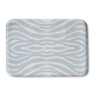 Kavka Designs Blue/Ivory Safari Memory Foam Bath Mat