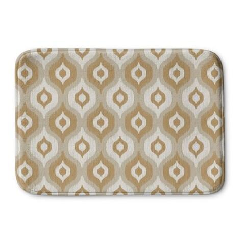 Kavka Designs Tan/Ivory/Gold Harmony Memory Foam Bath Mat