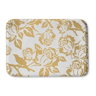 Kavka Designs Gold/White Gold Metallic Garden Memory Foam Bath Mat