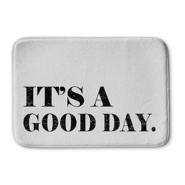 Kavka Designs Black/White Its A Good Day Memory Foam Bath Mat