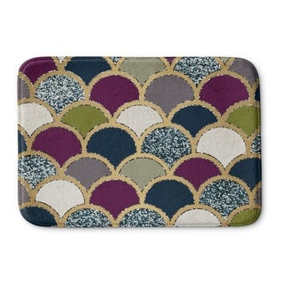 Kavka Designs Purple/Green/Blue Scales Memory Foam Bath Mat