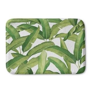 Kavka Designs Green Banana Leaves Memory Foam Bath Mat (2 options available)