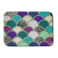 Kavka Designs Blue/Green/Pink/Grey Mermaid Scales Memory Foam Bath Mat